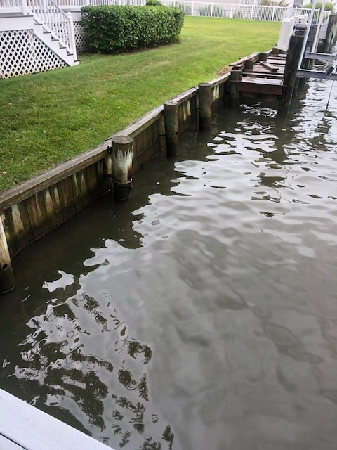 Failing bulkhead in Ocean City, MD
